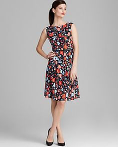 Jones New York Collection Poppy Print Belted Dress, super cute!