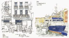 Urban Sketchers: Gérard Michel