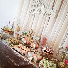 A beautifully refined #Champagne #Glitz #sequin #DessertTable by @prissysweetcake!  These sweet treats look simply delectable.  #wedding #weddingdecorations #bride #decor #weddingplanner #eventplanner #partyplanner #cvlinens #bridetobe #partydecor #eventplanning #event #eventdecor #eventdesign #eventos #evento #party #florist #bakery #catering #tabledesign #TaggedTuesdays by cvlinens