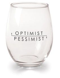 Optimist / Pessimist Wine Glasses
