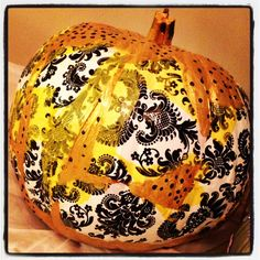 Mod podge #pumpkin #halloween