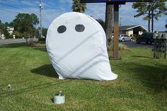 Halloween Ghost Hay Bale Bauman Chiropractic, Panama City FL www.baumanchiropractic.net