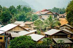 Laos, Nong Khiaw. Nong Khiaw is a small sleepy village at the bank of Nam Ou