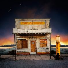 Credit: Ed Freeman <strong>Post Office, Darwin CA</strong><br/> 'I'd clean up the picture and clean up the background and put the right sky in, to complement the buildings. The mountain range in the background is always the same'