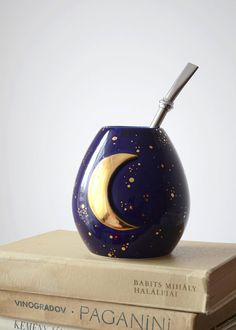 Celestial crescent moon mate cup yerba mate witch