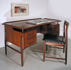 Svend Madsen Danish rosewood desk. Available from HAYLOFT www.midcenturyhome.co.uk