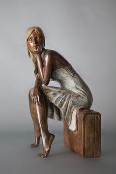 Alain Choisnet 1962   British Figurative sculptor