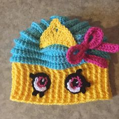 Shopkins Inspired Cupcake Queen hat CHILD by AbbeyLaneCreations