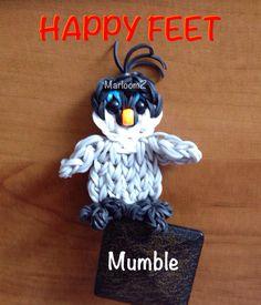 Rainbow loom Penguin - mumble from Happy Feet