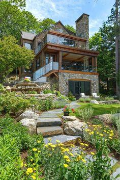 Dream Home Design, Modern House Design, Architecture Résidentielle, Classical Architecture, Modern Residential Architecture, Architecture Drawings, Sustainable Architecture, Dream House Exterior, Stone Houses