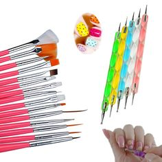 Nail Brush Nail Art Design Painting Pen Polish Brush Set Kit DIY Professional Nail Brsuhes Dotting Tools