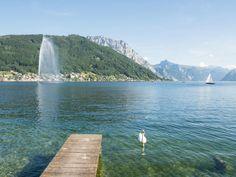 Traunsee Gmunden Promenade Salzburg, Hallstatt, Seen, Roadtrip, Vienna, Austria, Beautiful Places, River, Outdoor