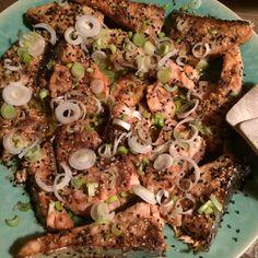 Liza's incredible slow cooked Japanese salmon