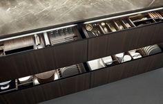 Modern Luxury Kitchens For A Grand Kitchen Modern Kitchen Cabinets, Wooden Kitchen, Kitchen Interior, Kitchen Design, Kitchen Ideas, Interior Design Boards, Modern Interior Design, Furniture Design, Latest Kitchen Trends