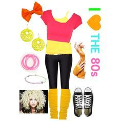 This can be for spirit week too! 80s Party Outfits, 80s Outfit, 80s Fashion Party, 80s Fashion Kids, Fashion Goth, Trendy Fashion, Fashion Ideas, Vintage Fashion, Costume Année 80