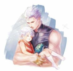Credits to the artist. Father and son