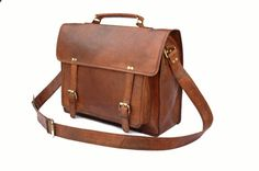 Handmade Leather Camera Bag / Briefcase / Messenger Bag - Two in One - Vintage Retro Look