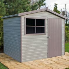 Buy Homewood Wroxham Wooden Gable Heavy Frame Shed - 10 x 6ft at Argos.co.uk - Your Online Shop for Sheds, Sheds and bases, Conservatories, sheds and greenhouses, Home and garden.