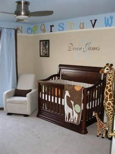 S giraffe themed nursery baby детская кроватка, детски Giraffe Nursery, Baby Nursery Themes, Baby Boy Rooms, Baby Room Decor, Baby Boy Nurseries, Nursery Room, Girl Nursery, Nursery Decor, Themed Nursery