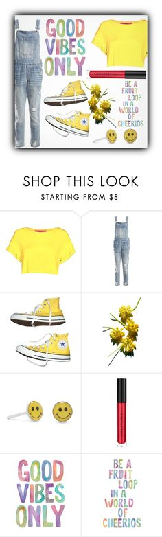 """""""Good Vibes Only: Yellow"""" by trxsha on Polyvore featuring Sans Souci, Converse, StreetStyle, tumblr and polyPresents"""