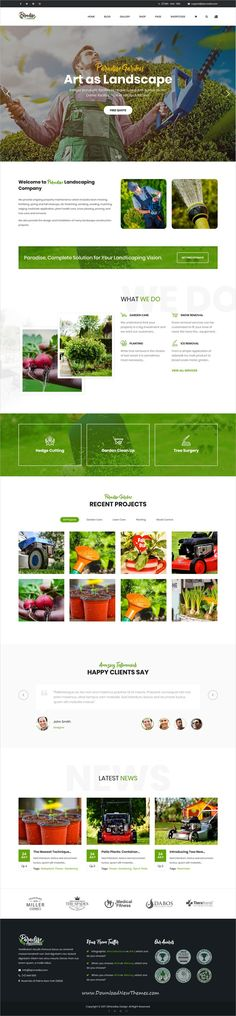 QParadise is clean and modern design 8in1 responsive #WordPress theme for #garden, #landscaping and lawn services website download now..
