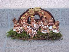 Keramický betlém / Zboží prodejce teparnice | Fler.cz Christmas Clay, Christmas Nativity, Xmas, Native Art, Clay Projects, Cribs, Coloring Books, Sculpting, Pottery