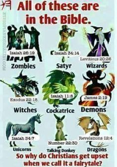 Metaphysical beings from the Bible.