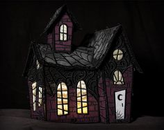 Freestanding Lace Haunted House embroidery design
