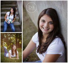 Senior girl with soccer ball - mattawan senior photos. #baseniors