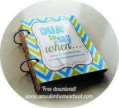 printable dua for kids from hisnul muslim