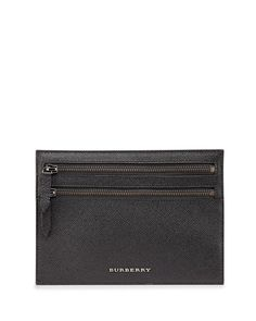 9abf0cd8c07 BURBERRY Men S Leather Zip Travel Pouch