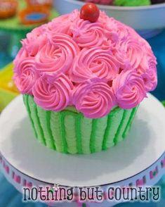 "Photo 17 of Cupcake Wars / Birthday ""Cupcake Wars"" Cupcake Wars Party, Big Cupcake, Giant Cupcake Cakes, Cupcake Bakery, Cake Pops, First Birthday Cupcakes, Birthday Cakes, Baking Party, Yummy Cupcakes"