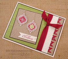 Ingrid used Mosaic Madness & its punch to make this fabulous Christmas card!