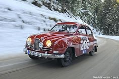 Saab 96 racing | SaabWorld - Seven vintage Saabs to compete at the 2013 Rallye Monte ...