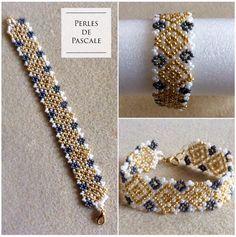 Bracelet tissage danois Woven Bracelets, Bead Weaving, Homemade, Beads, Etsy, Jewelry, Bracelets, Making Bracelets, Danish Language