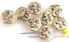 7 sand dollar 2 hole slider beads 10337 - Mobile Boutique