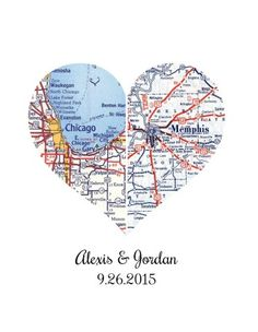 Personalized Wedding Map | Long Distance Gift | Unique Wedding Gift |Personalized Wedding Gift | Custom Wedding Gift | Custom Wedding Map 8x10: Handmade