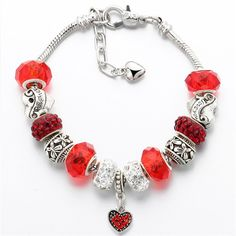 Crystal Heart Beads Bracelet – Ladore & You.