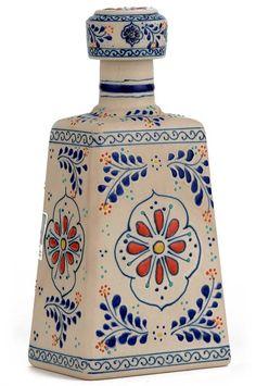 la cofradia reposado tequila - talavera bottle