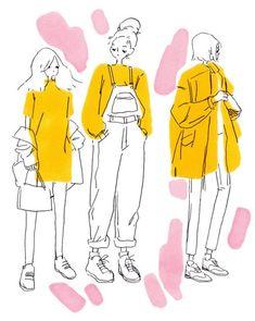 ideas fashion drawing illustration simple for 2019 Art Inspo, Inspiration Art, Art Sketches, Art Drawings, Outfit Drawings, Arte Sketchbook, Sketchbook Ideas, Fashion Sketchbook, Arte Fashion