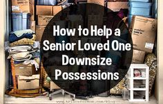 Downsizing can be difficult for seniors facing the move to assisted living. Learn how families can help ease the transition.