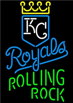 Rolling Rock Kansas City Royals MLB Neon Beer Signs, Rolling Rock with MLB Neon Signs | Beer with Sports Signs. Makes a great gift. High impact, eye catching, real glass tube neon sign. In stock. Ships in 5 days or less. Brand New Indoor Neon Sign. Neon Tube thickness is 9MM. All Neon Signs have 1 year warranty and 0% breakage guarantee.