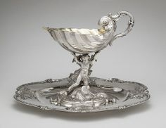 Silver jug with dish by Christian Precht, 1745