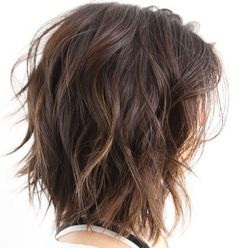 I like this but whenever I try it I feel like I look like I just rolled out of bed.  Shoulder-Length+Choppy+Wavy+Bob