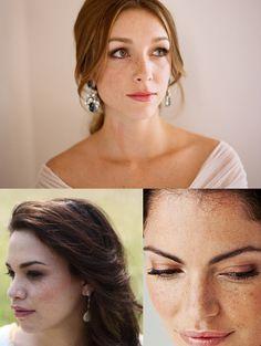 Beauté de la mariée: montrez vos jolies taches de rousseur!
