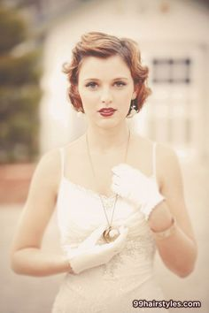 vintage wedding hairstyle for short hair - 99 Hairstyles Ideas