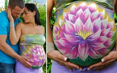 belly painting lotus flower                                                                                                                                                                                 More