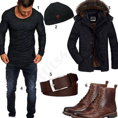Winter-Outfit mit Mantel und Clarks Stiefeln (m0597) #outfit #style #fashion #menswear #herren #männer #shirt #mode #styling #sneaker #menstyle #mensfashion #menswear #inspiration #shirt #cloth #clothing #ootd #herrenoutfit #männeroutfit
