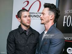 Actors Nick Jonas (L) and Jonathan Tucker attend The SAG Foundation hosts special screening and Q&A of 'Kingdom' at SAG Foundation Actors Center on June 17, 2015 in Los Angeles, California.