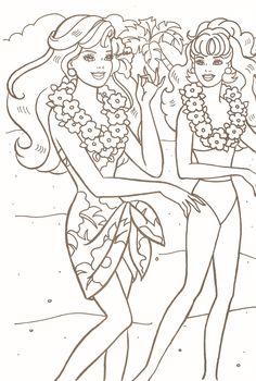barbie friends coloring page | dibujos niÑa | pinterest | barbie ... - Barbie Friends Coloring Pages